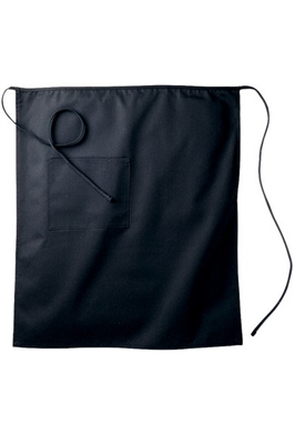 1-POCKET LONG BISTRO APRON - Black